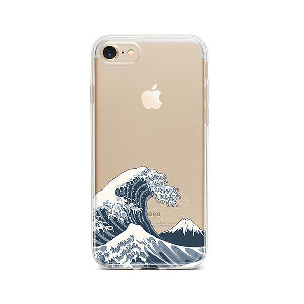Japanese Wave iPhone 8 Case Clear
