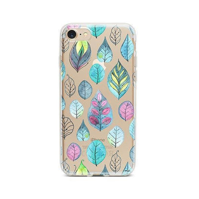 Leaves - Clear TPU - iPhone Case