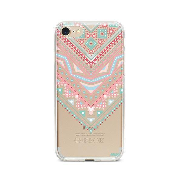 Pastel Aztec Triangle iPhone 7 Case Clear