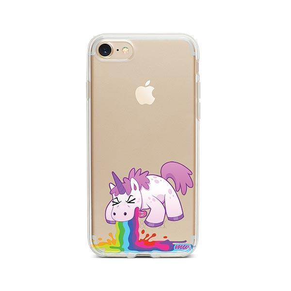Puking Unicorn iPhone 7 Case Clear