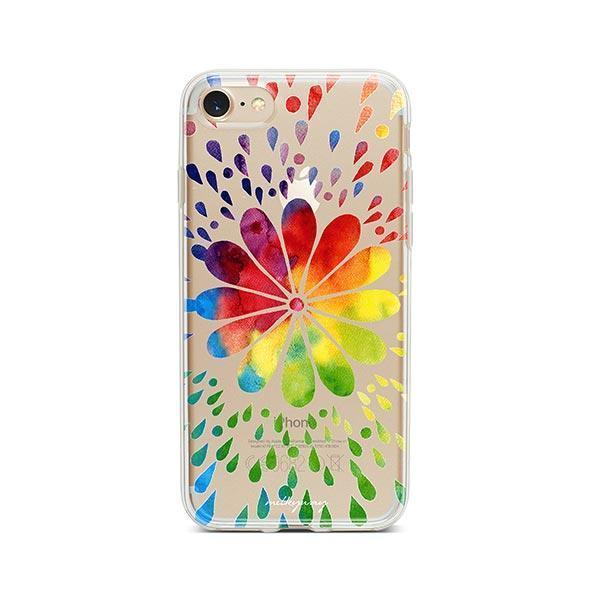 Rainbow Mandala iPhone 7 Case Clear
