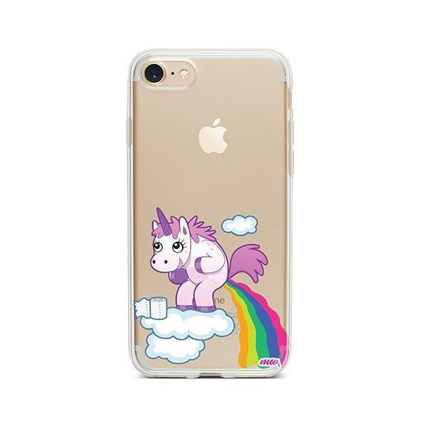 Pooping Unicorn iPhone 7 Case Clear