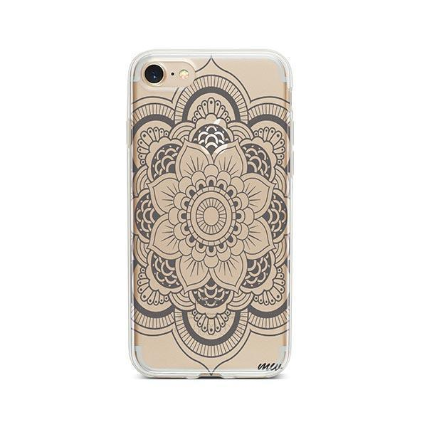 Henna Full Mandala iPhone 7 Case Clear