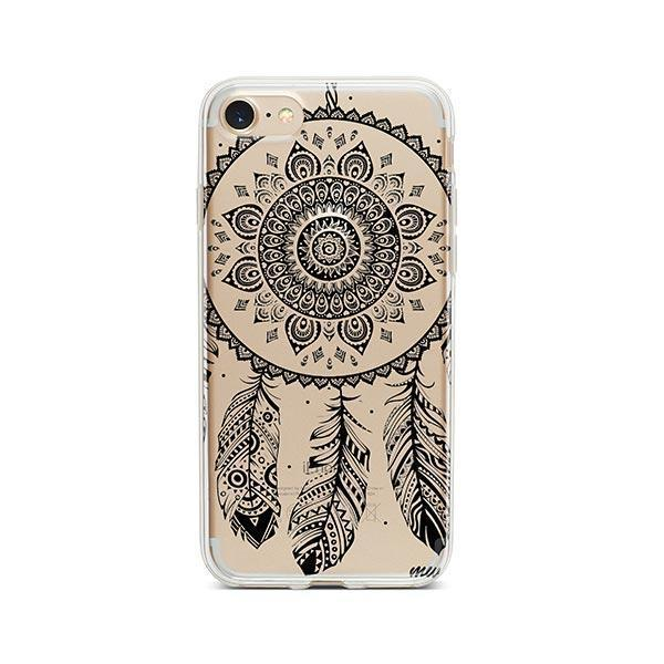 Black Henna Ojibwe iPhone 8 Case Clear