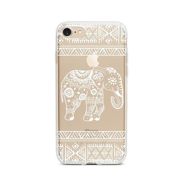 Henna Aztec Sundala Elephant iPhone 7 Case Clear