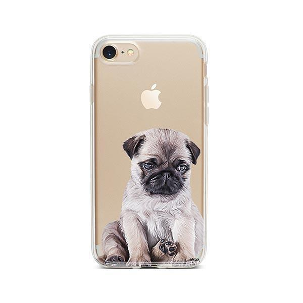 Baby Pug - iPhone 8 Clear Case