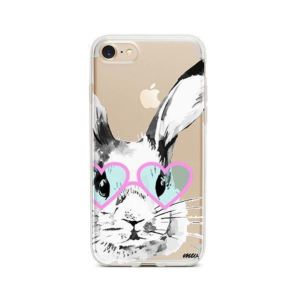 Beverly Hills Bunny - iPhone 8 Case Clear