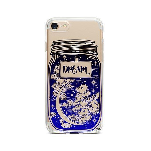 Blue Dream iPhone 8 Case Clear
