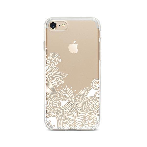 Hennan Bottom Floral Paisley iPhone 7 Case Clear