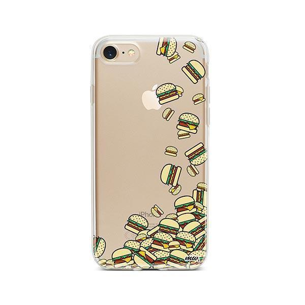 Burger Stuck iPhone 8 Case Clear