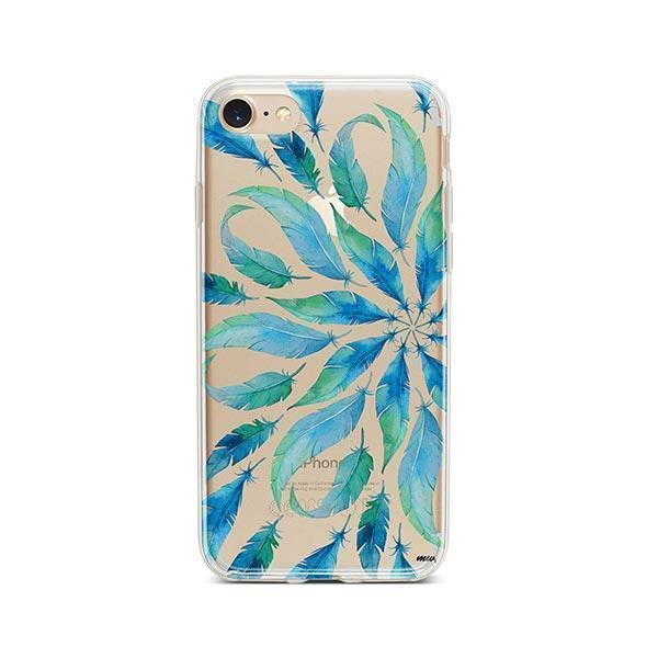 Burst of Feathers iPhone 8 Case Clear