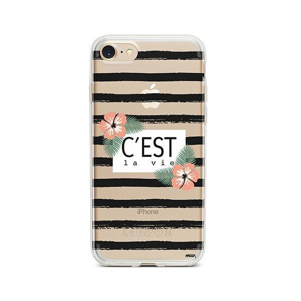 C'est La Vie iPhone 8 Case Clear