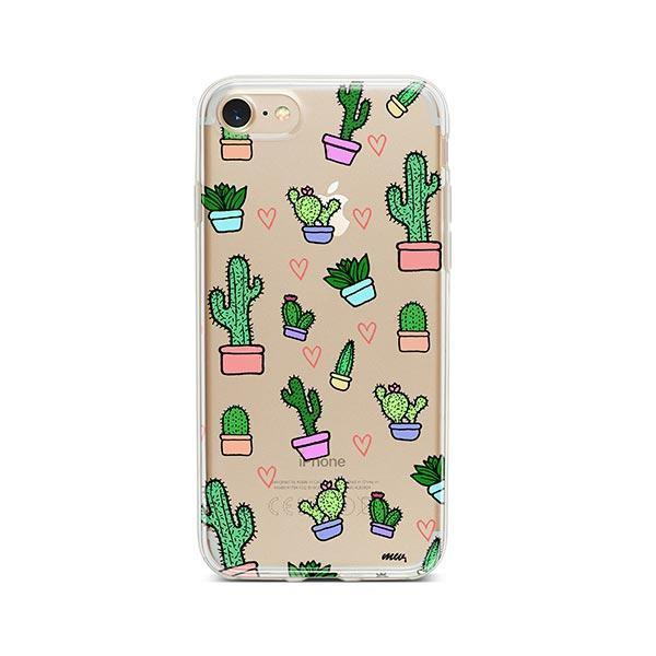 Cactus Love iPhone 7 Case Clear