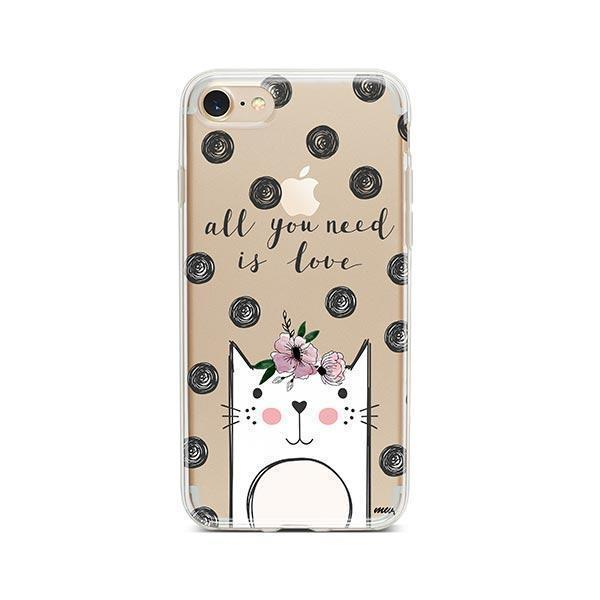 Cat Love - iPhone 8 Clear Case