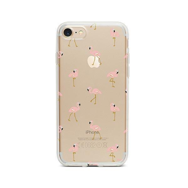 Chillin Flamingo - iPhone 7 Case Clear