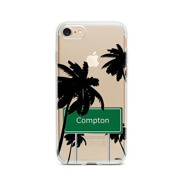 Compton iPhone 8 Case Clear