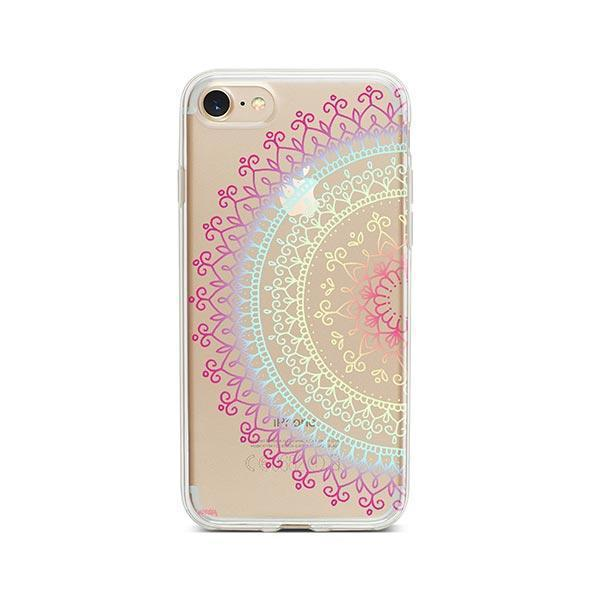 Cotton Candy Mandala iPhone 8 Case Clear