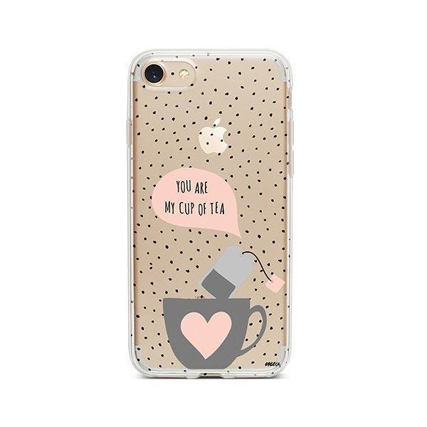 Cup of Tea iPhone 8 Case Clear