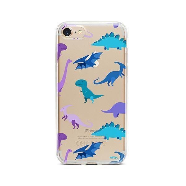 hot sale online 6c9b6 df2f0 Dino Time iPhone 8 Case Clear