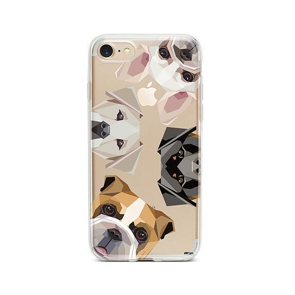 Dogs with Attitude - iPhone 7 Clear Case