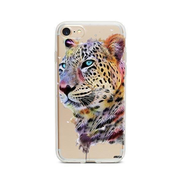 Dripping Leopard - iPhone 8 Case Clear