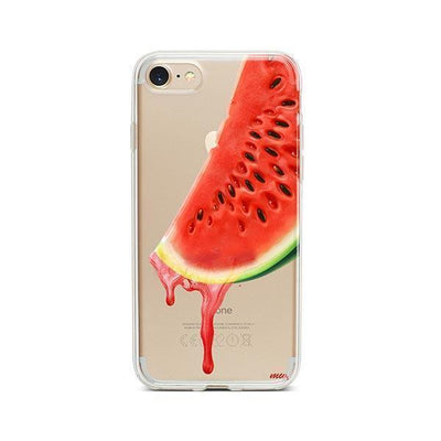 Dropping Watermelon - iPhone Clear Case