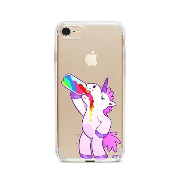 Drunk Unicorn iPhone 7 Case Clear