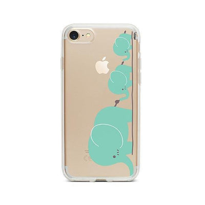 Elephant Family - iPhone Clear Case