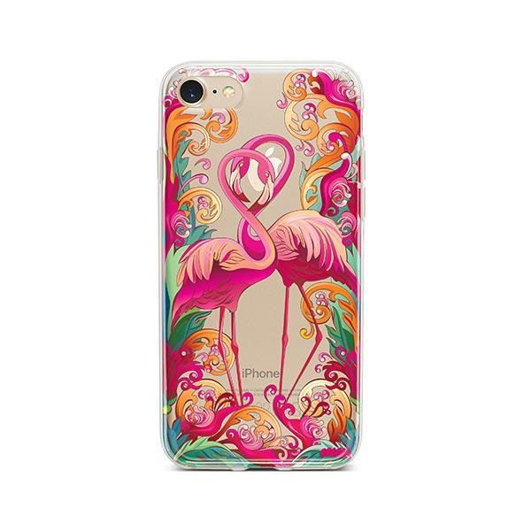 Flaming Flamingo - iPhone 7 Case Clear