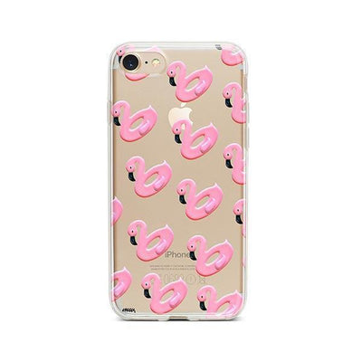 Flamingo Floaties - iPhone Clear Case