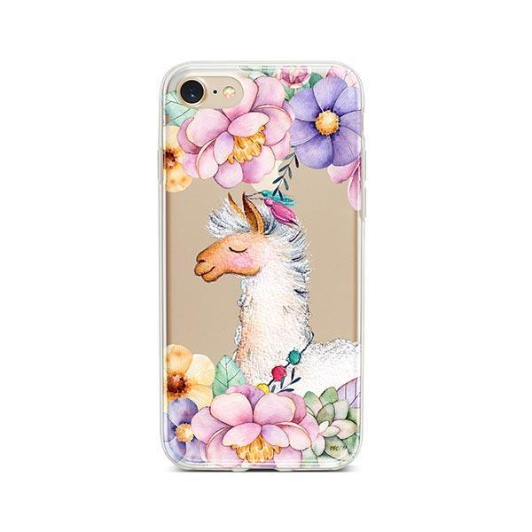 Floral Llama iPhone 7 Case Clear