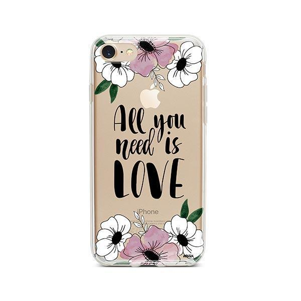 All You Need is Love iPhone 8 Case Clear