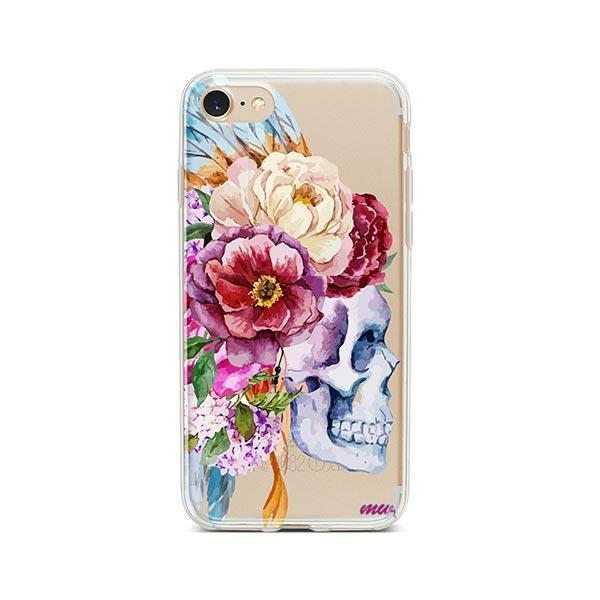 Craneo De La Flor iPhone 7 Case Clear