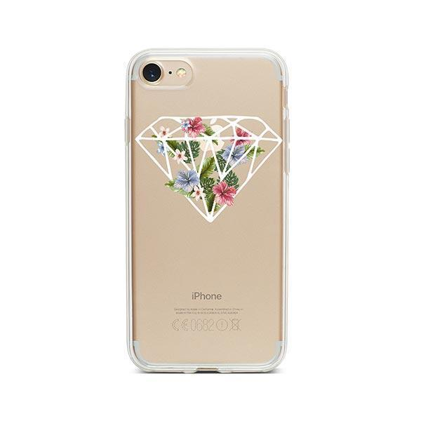 Floral Diamond iPhone 8 Case Clear