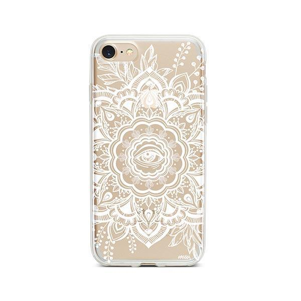 Henna Floral Eye iPhone 7 Case Clear