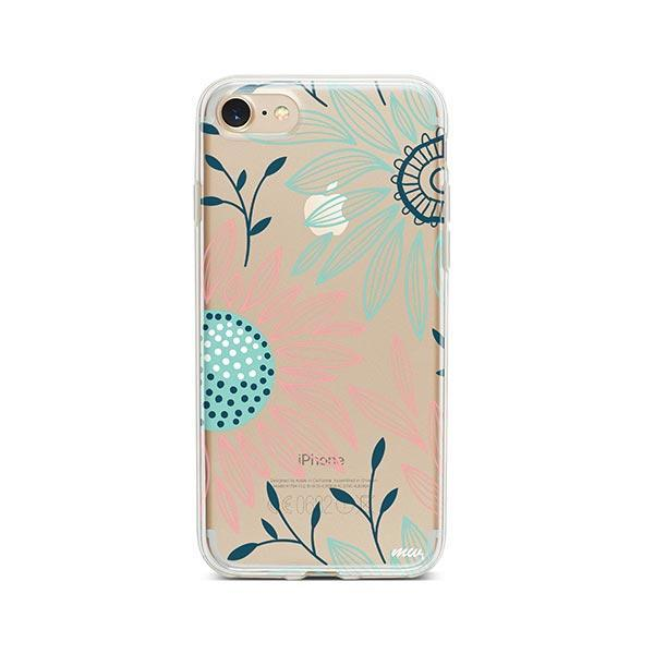 Floral Patch iPhone 7 Case Clear