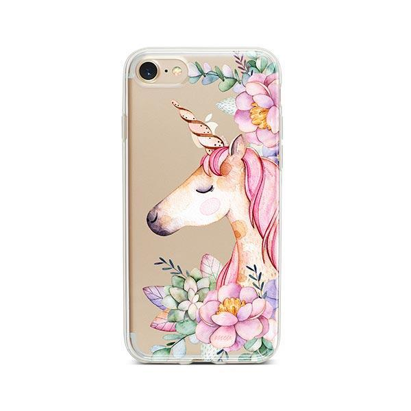 Floral Unicorn iPhone 7 Case Clear