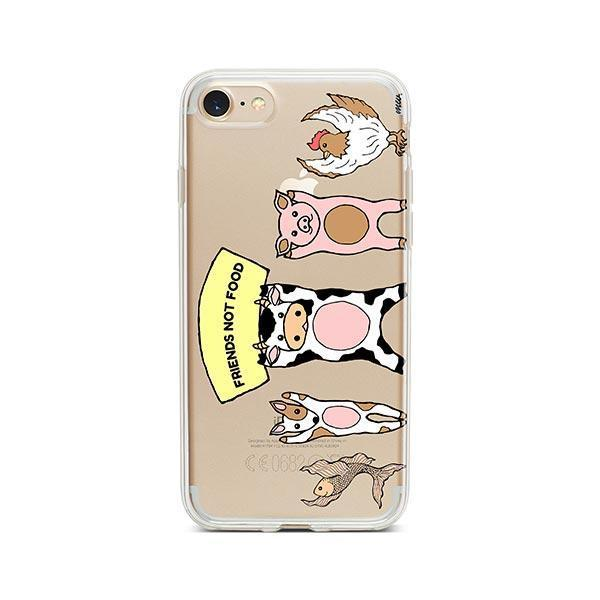 Friends Not Food - iPhone 7 Case Clear