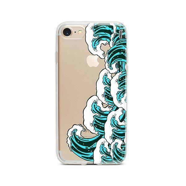 Full Great Wave Kanagawa iPhone 8 Case Clear