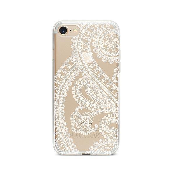 Henna Full Paisley iPhone 7 Case Clear
