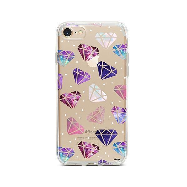 Galatic Diamonds iPhone 7 Case Clear