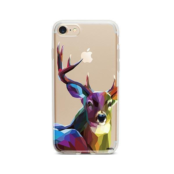 Geometric Deer - iPhone 7 Case Clear