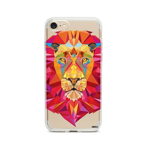 Geometric Lion - iPhone 7 Case Clear