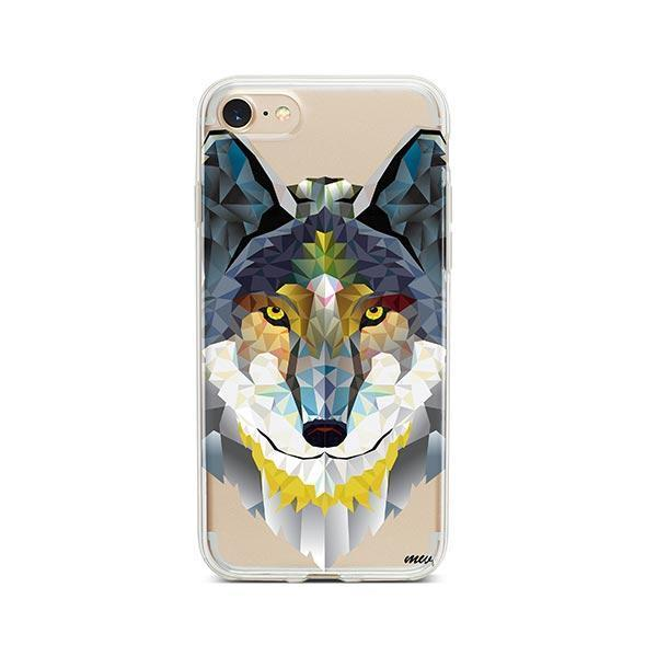 Geometric Wolf - iPhone 7 Case Clear