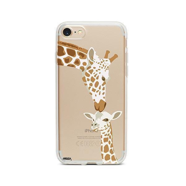 Giraffe Love - iPhone 7 Case Clear