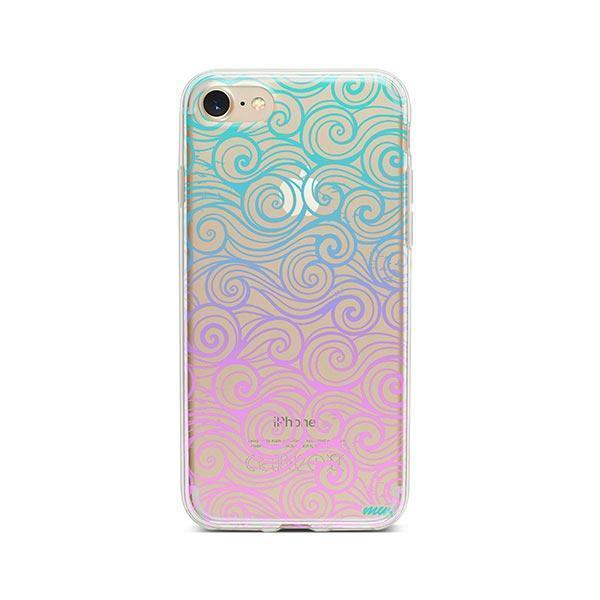 Gradient Wave iPhone 8 Case Clear