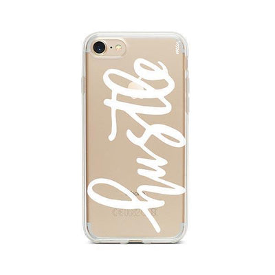 Hustle in White - iPhone Clear Case