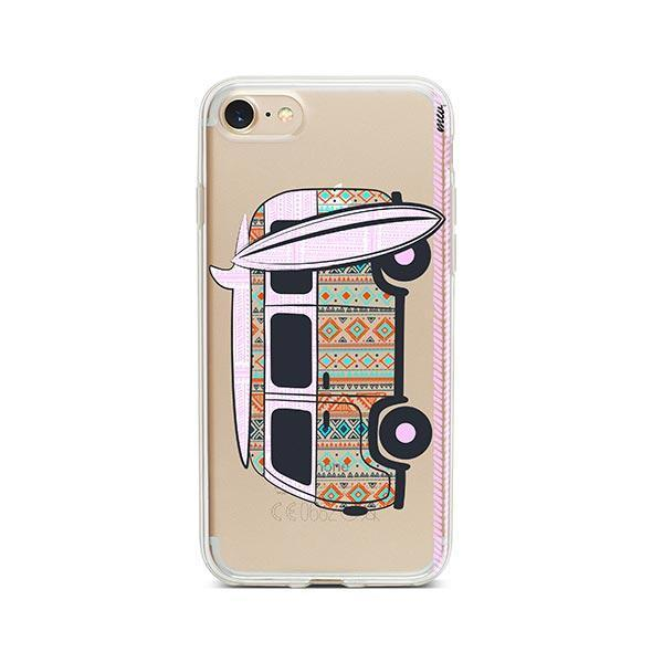Hipster Van iPhone 7 Case Clear