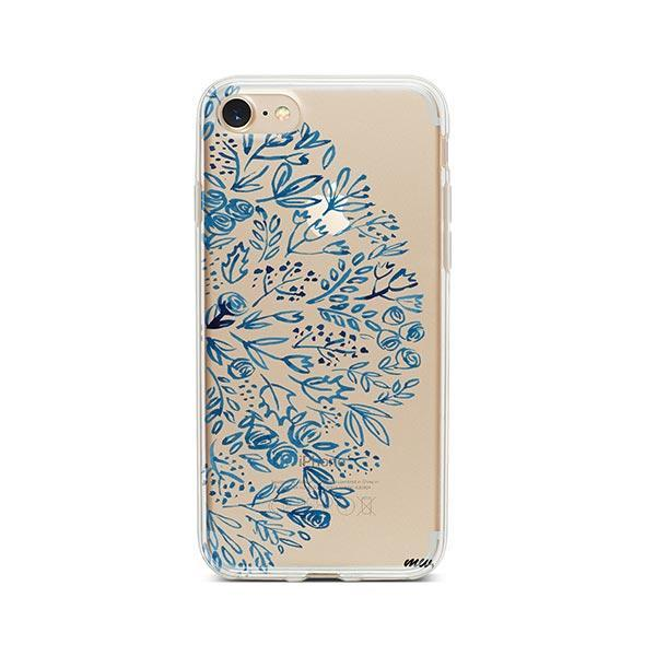 Indigo Henna iPhone 7 Case Clear