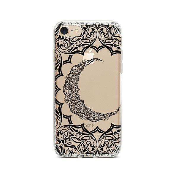Crescent Moon Henna iPhone 8 Case Clear